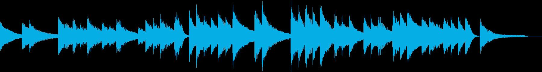 オリエンタルスケールのピアノジングルの再生済みの波形
