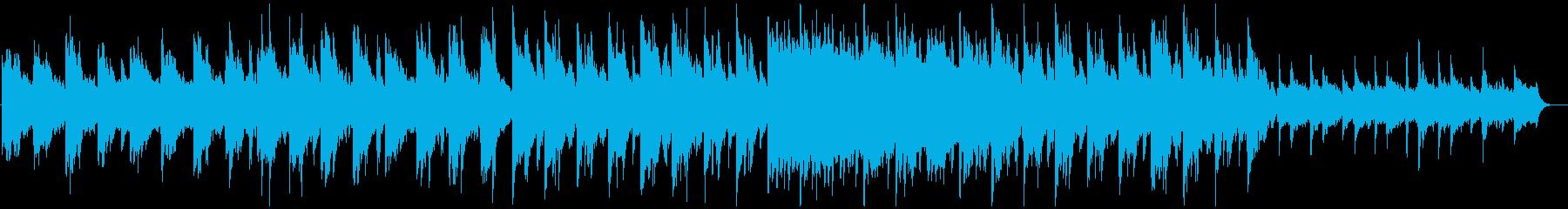 ジブリ調、ドリーミーなピアノのBGMの再生済みの波形