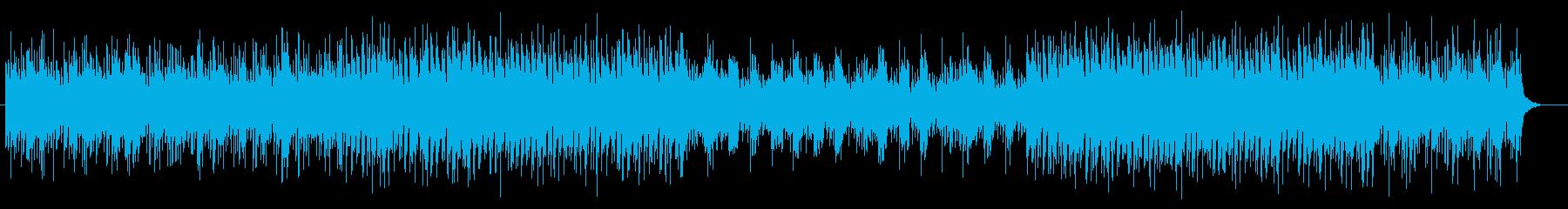 近未来や宇宙感のあるシンセサイザーテクノの再生済みの波形