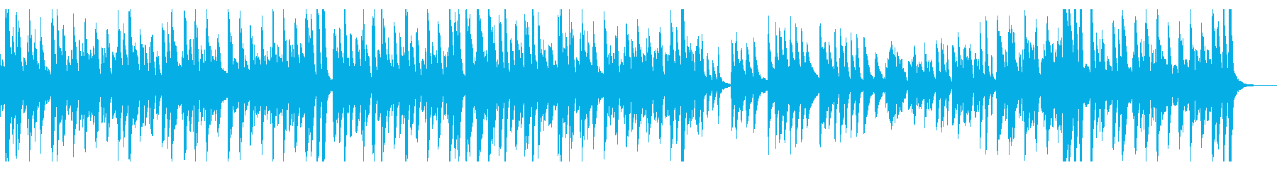 ソロのジャジーなピアノ曲。のんきで...の再生済みの波形