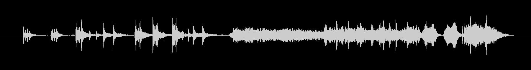 自然音が入ったヒーリング曲の未再生の波形
