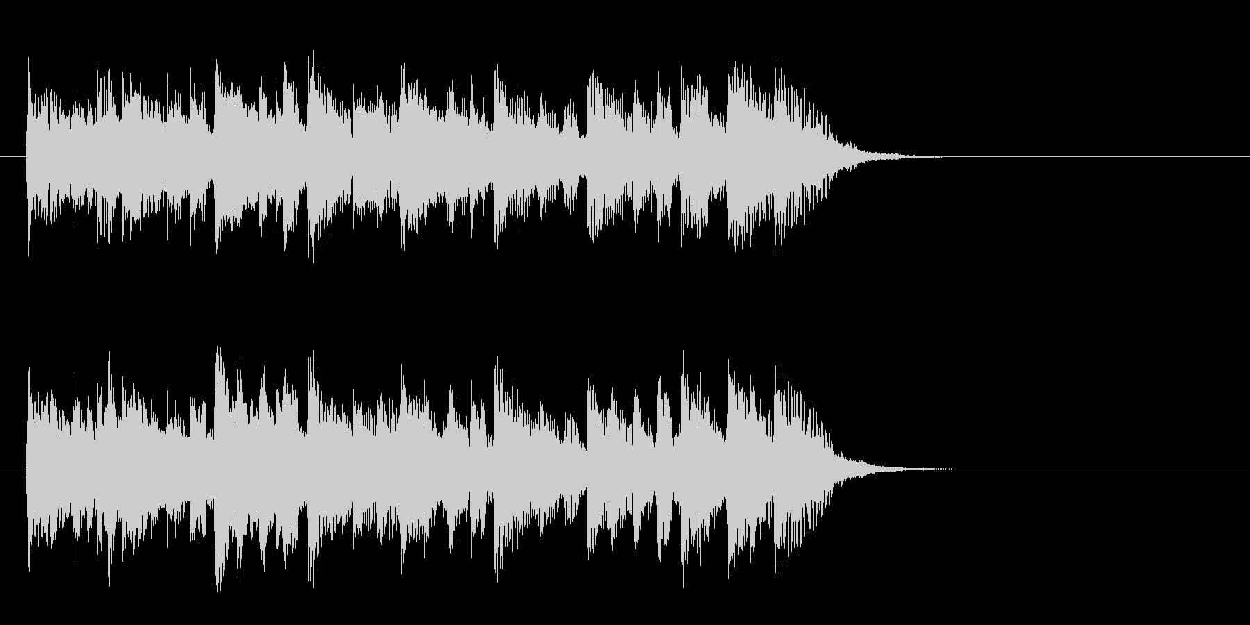 落着いたピアノ風バラード(サビ)の未再生の波形