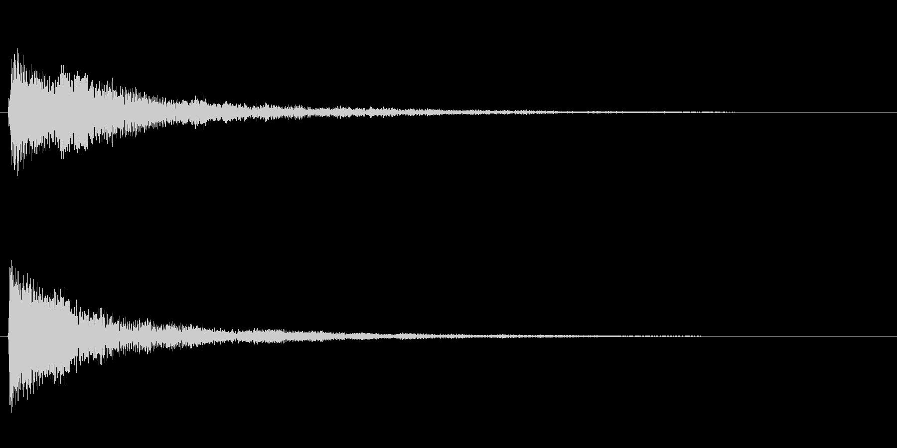 ピアノのワンショット効果音01の未再生の波形