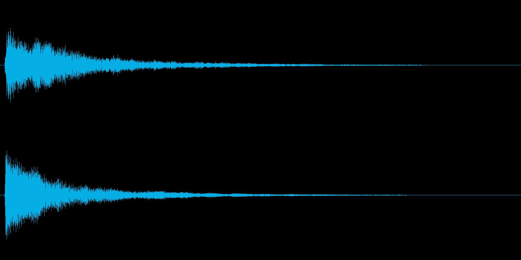 ピアノのワンショット効果音01の再生済みの波形