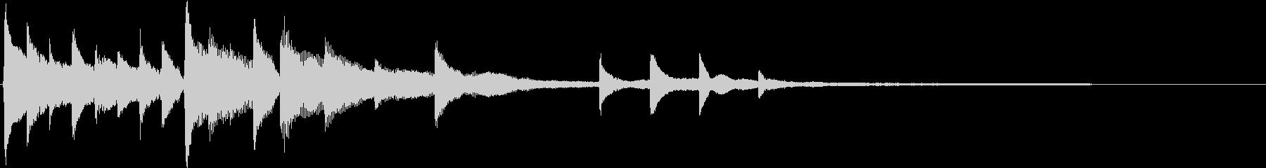 ドラマチック・物語風のピアノサウンドロゴの未再生の波形