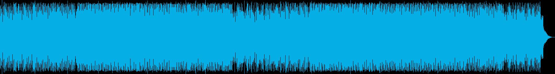 スペイシーなふわっとした変則的なテクノ音の再生済みの波形