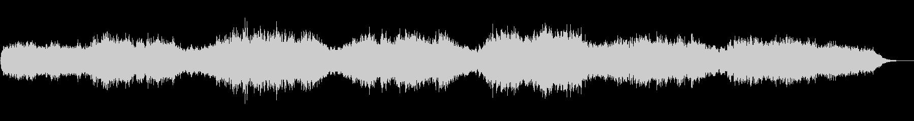 ホーミーを主題としたアンビエントな音風景の未再生の波形