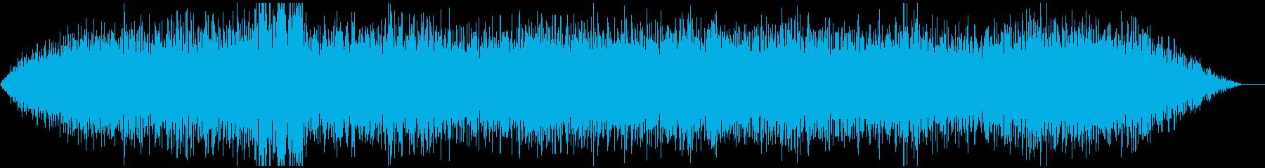 気味が悪いコマンドセンターの音の再生済みの波形