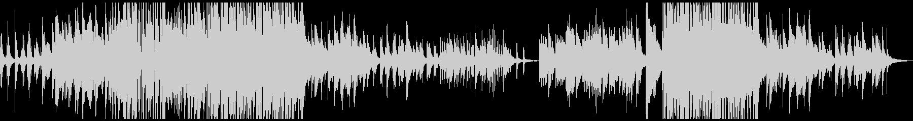 和風 ピアノソロ バラード曲の未再生の波形