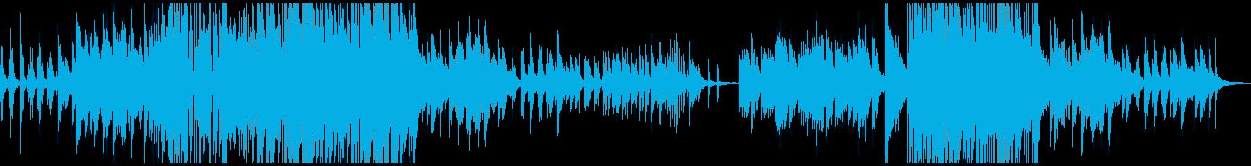 和風 ピアノソロ バラード曲の再生済みの波形