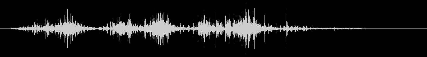 タブレッド菓子出す音・振る音12の未再生の波形