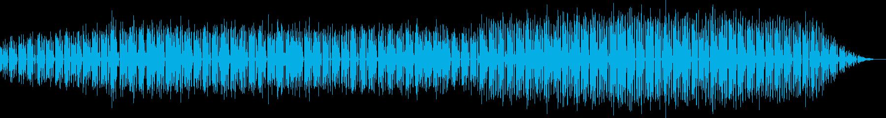 レゲエのリズムによる楽曲の再生済みの波形