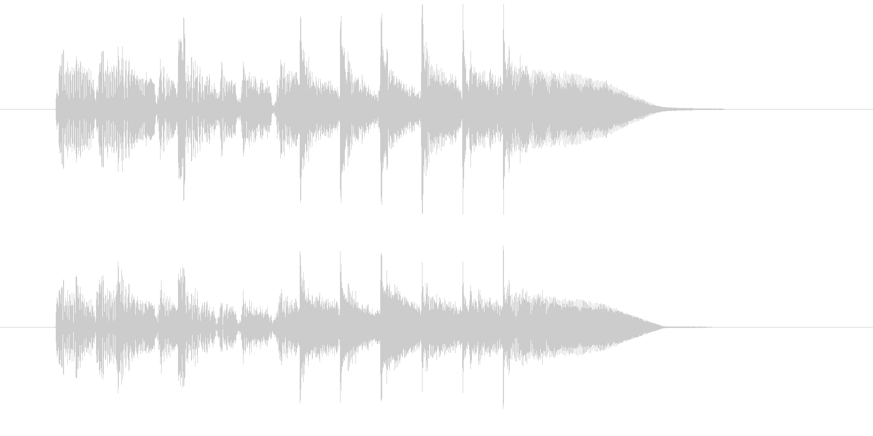 7秒のスローレゲエジングルの未再生の波形