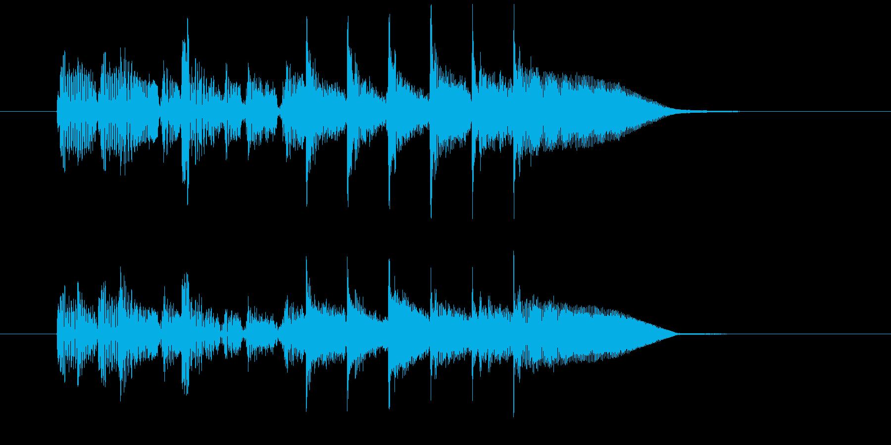 7秒のスローレゲエジングルの再生済みの波形