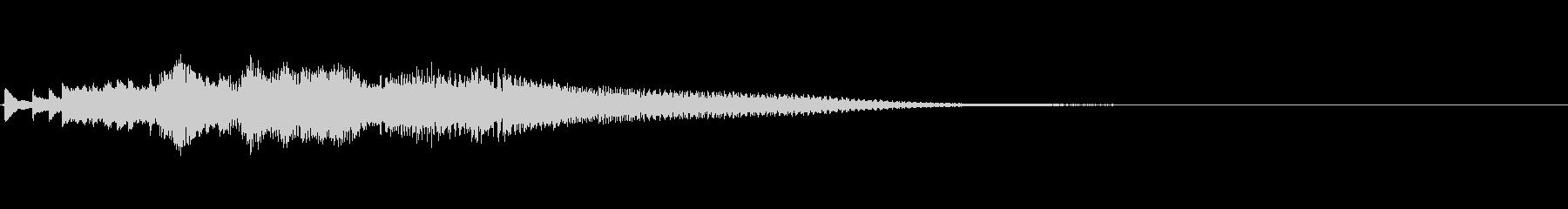 ハープのグリス(下り)を手弾きでピロピロの未再生の波形