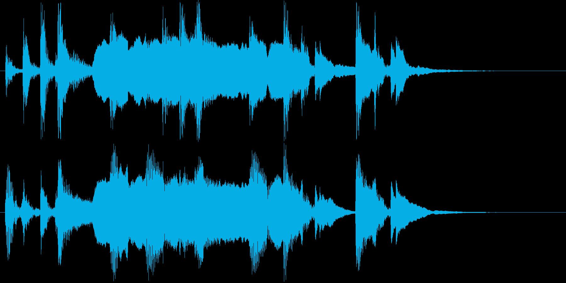 ファンタジーなピアノと笛のサウンドの再生済みの波形