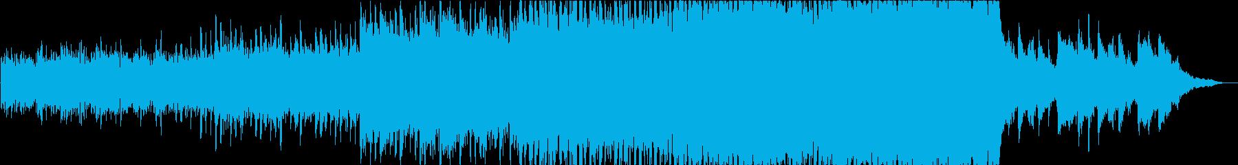 ピアノとアコギが主体の映像的な曲の再生済みの波形