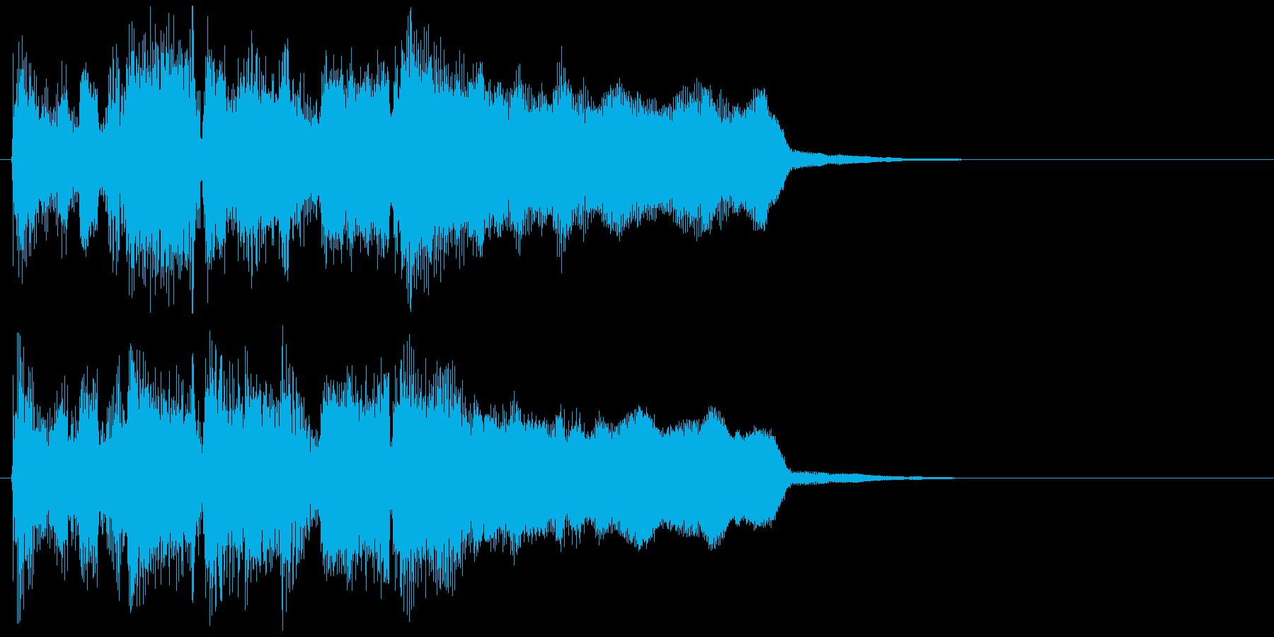 勢いあるジャズ、ステージクリア系ジングルの再生済みの波形