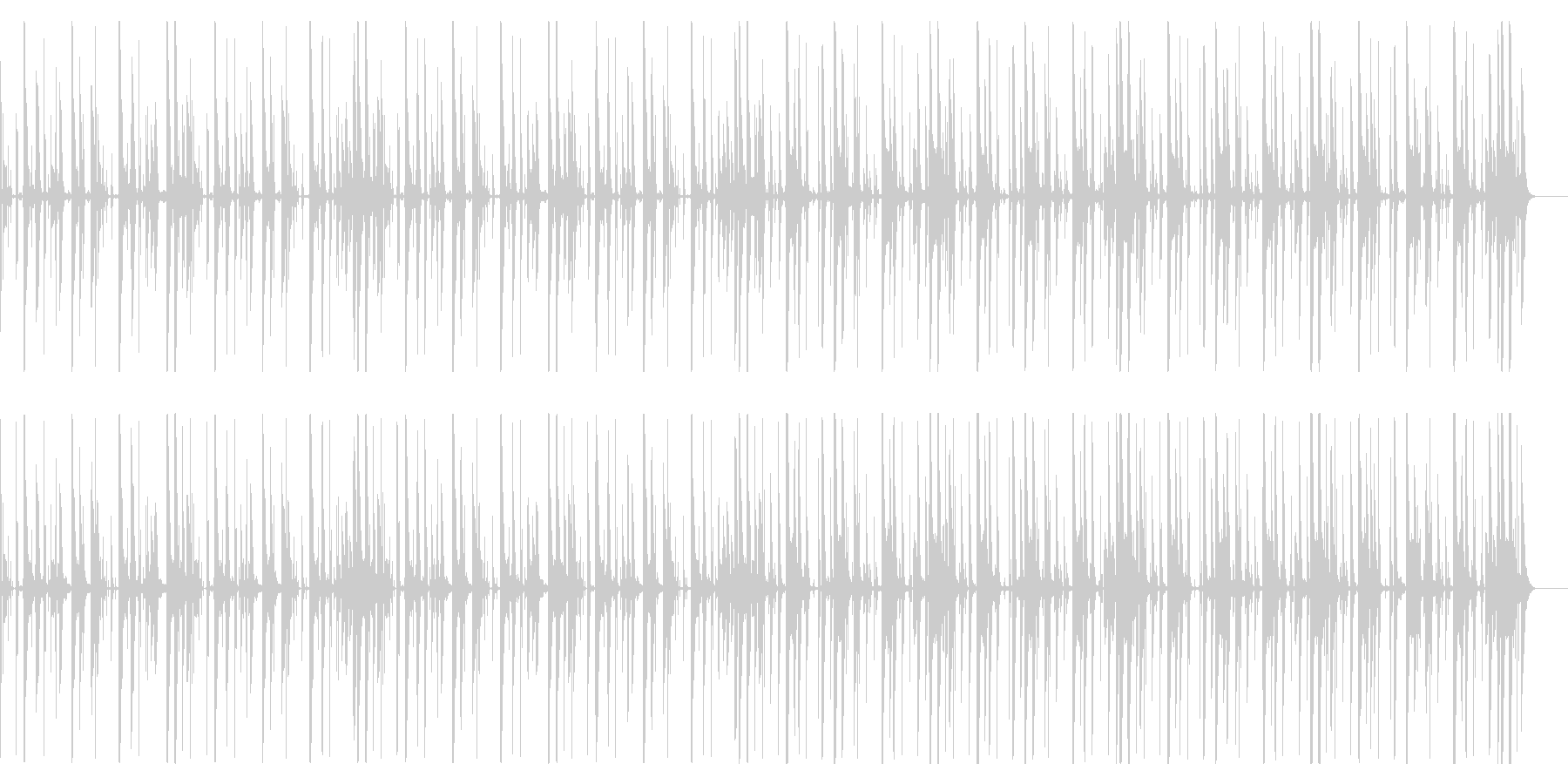 キックなし、120 BPMの未再生の波形