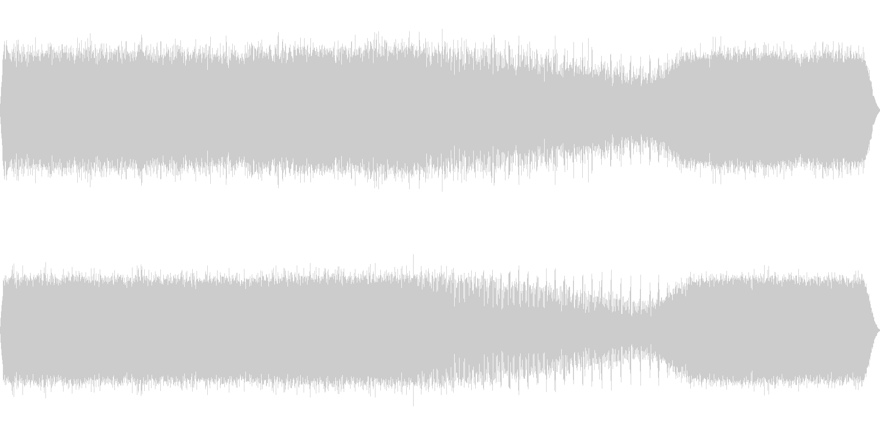 アブラゼミの鳴き声(近距離で合唱)の未再生の波形