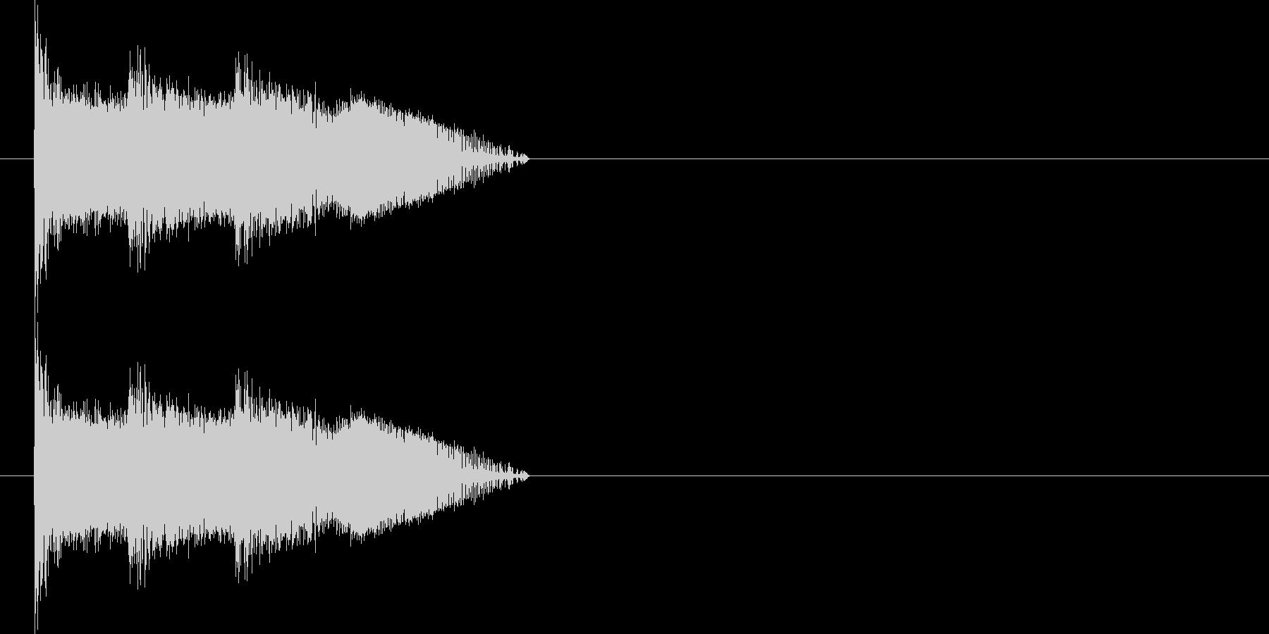 ビーム 14(3点バースト) の未再生の波形