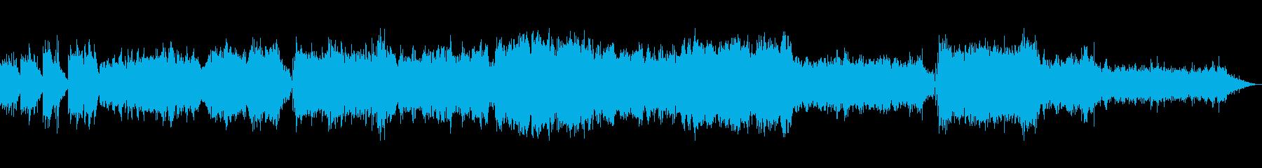 ピアノとストリングス中心のリラックスな曲の再生済みの波形