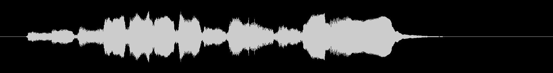 生演奏リコーダーのジングルの未再生の波形
