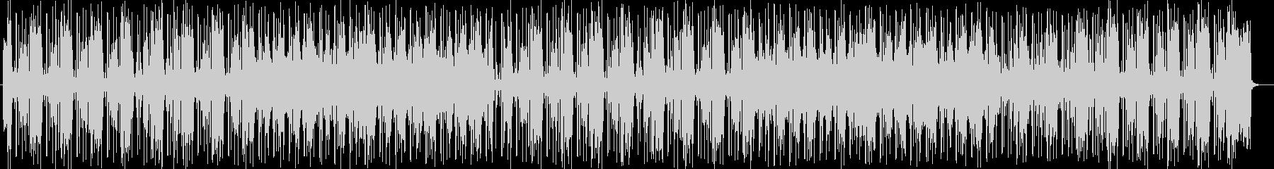 明るくお洒落なシンセサイザー楽曲の未再生の波形