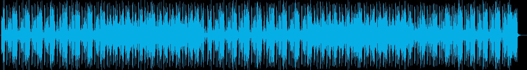 明るくお洒落なシンセサイザー楽曲の再生済みの波形