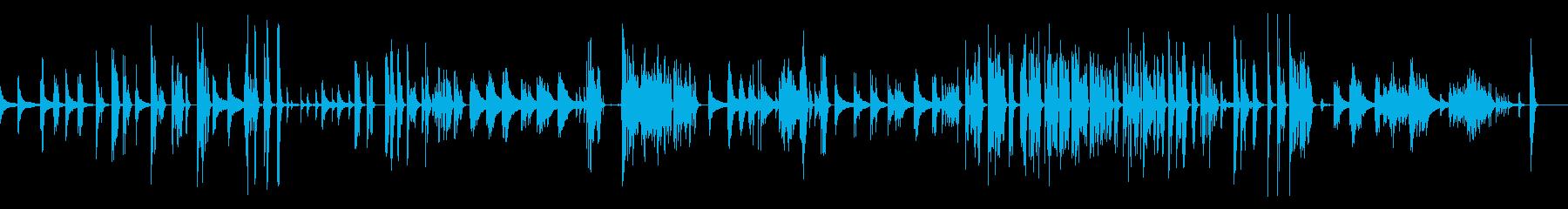 現代音楽風のホラーなピアノソロの再生済みの波形