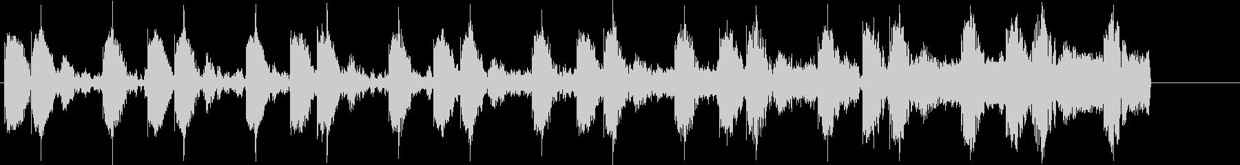 ドラムマシーンを使用した怪しい雰囲気の曲の未再生の波形