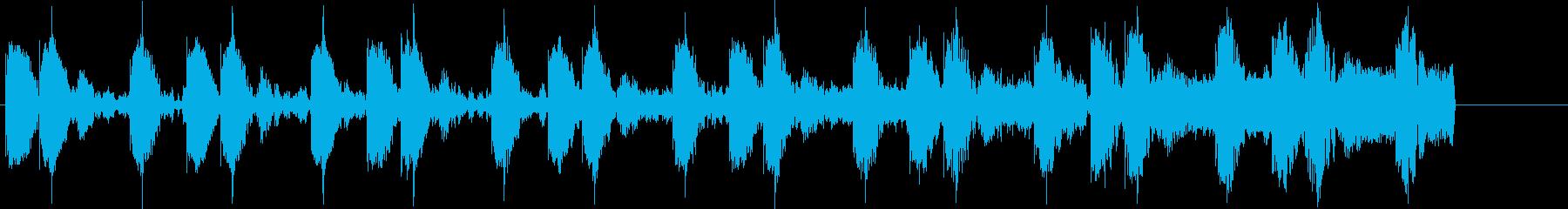 ドラムマシーンを使用した怪しい雰囲気の曲の再生済みの波形