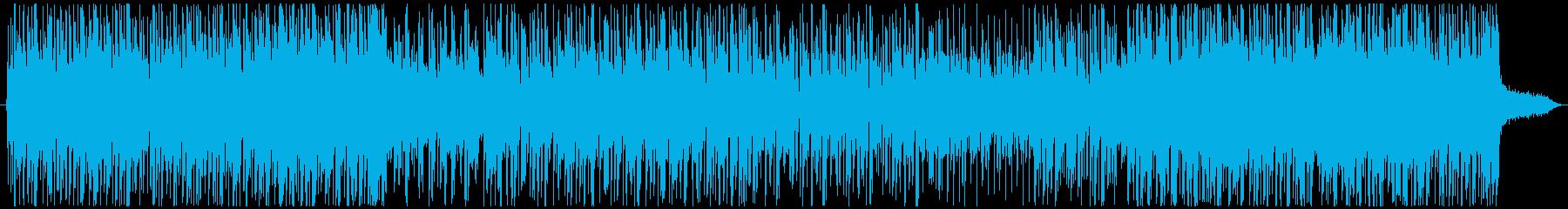 疾走感のあるエモーショナルなEDMの再生済みの波形