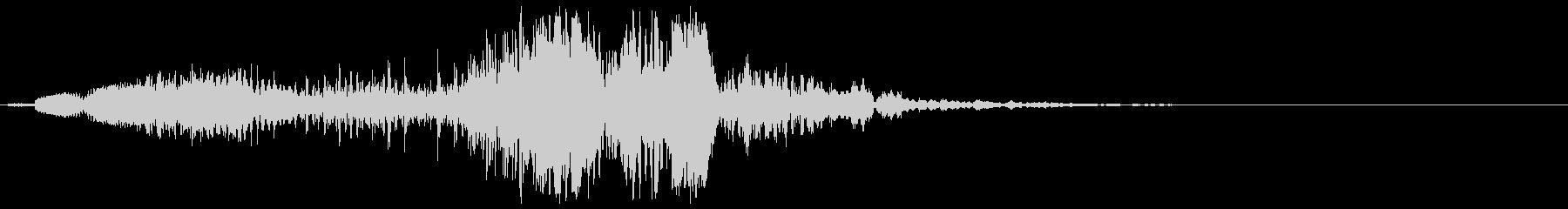 音の変化を楽しめるスペース音の未再生の波形