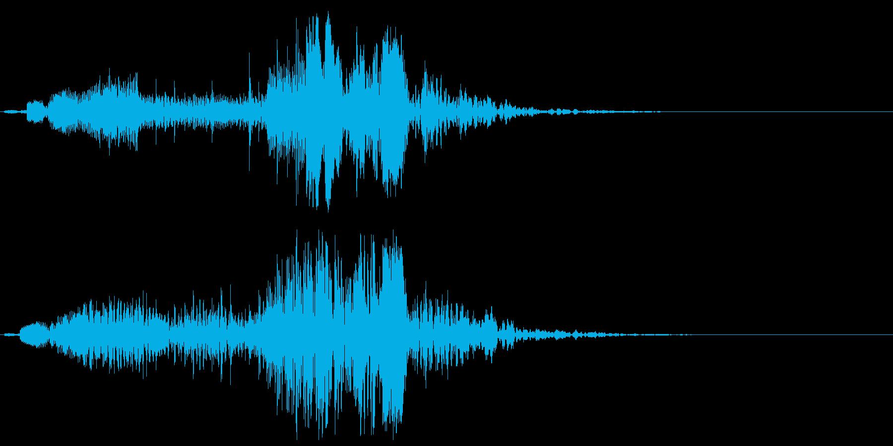 音の変化を楽しめるスペース音の再生済みの波形