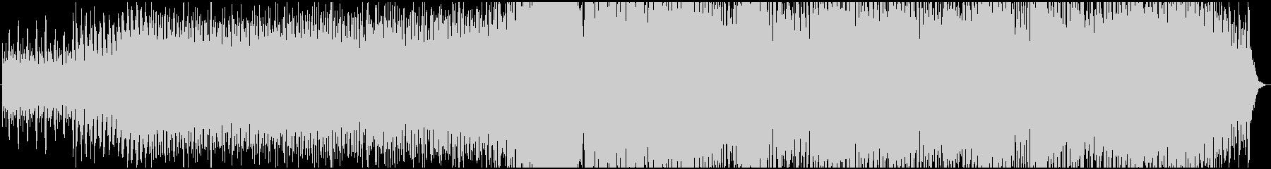 シンセサイザー中心のハイテクをイメージの未再生の波形