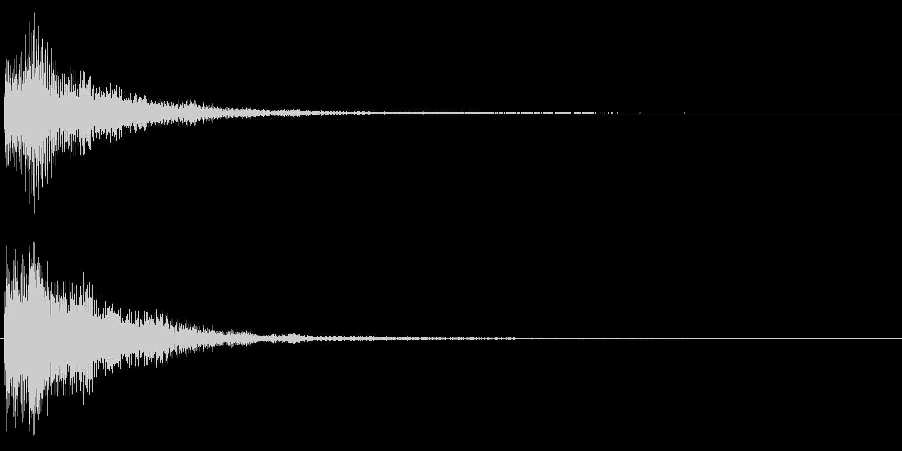 決定音/宇宙/柔らかい/電子音の未再生の波形