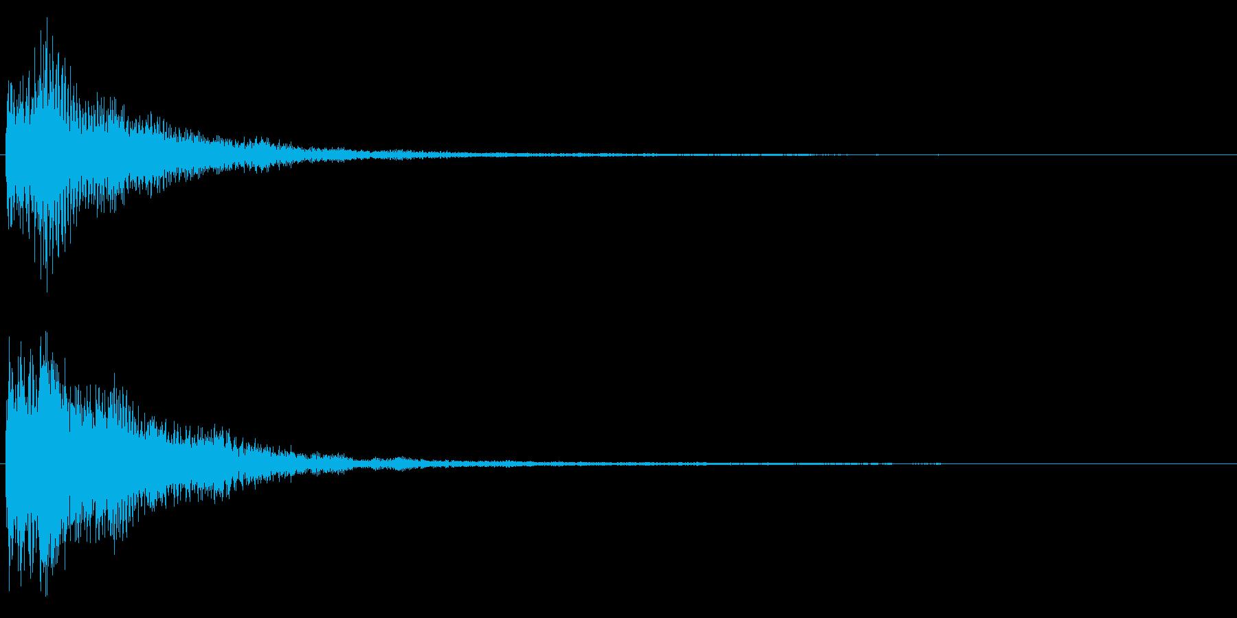 決定音/宇宙/柔らかい/電子音の再生済みの波形