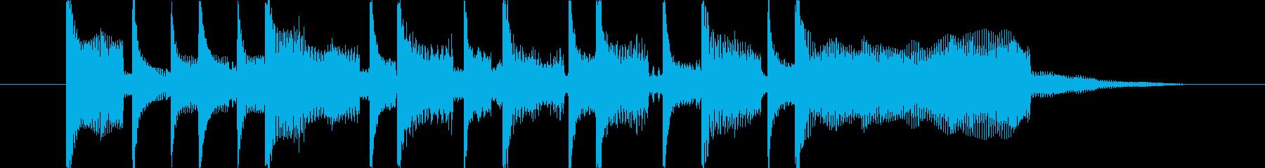 作品が完成した時の満足ファンファーレの再生済みの波形