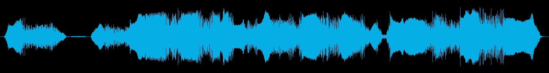 成人男性:怒鳴る声の再生済みの波形
