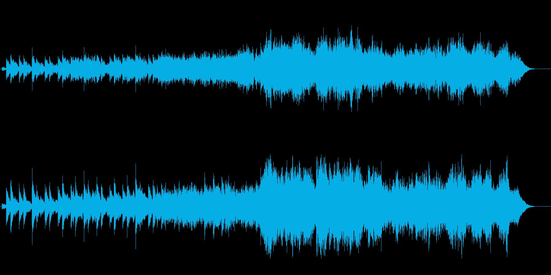 宇宙の浮遊感が幻想的なアンビエントBGの再生済みの波形