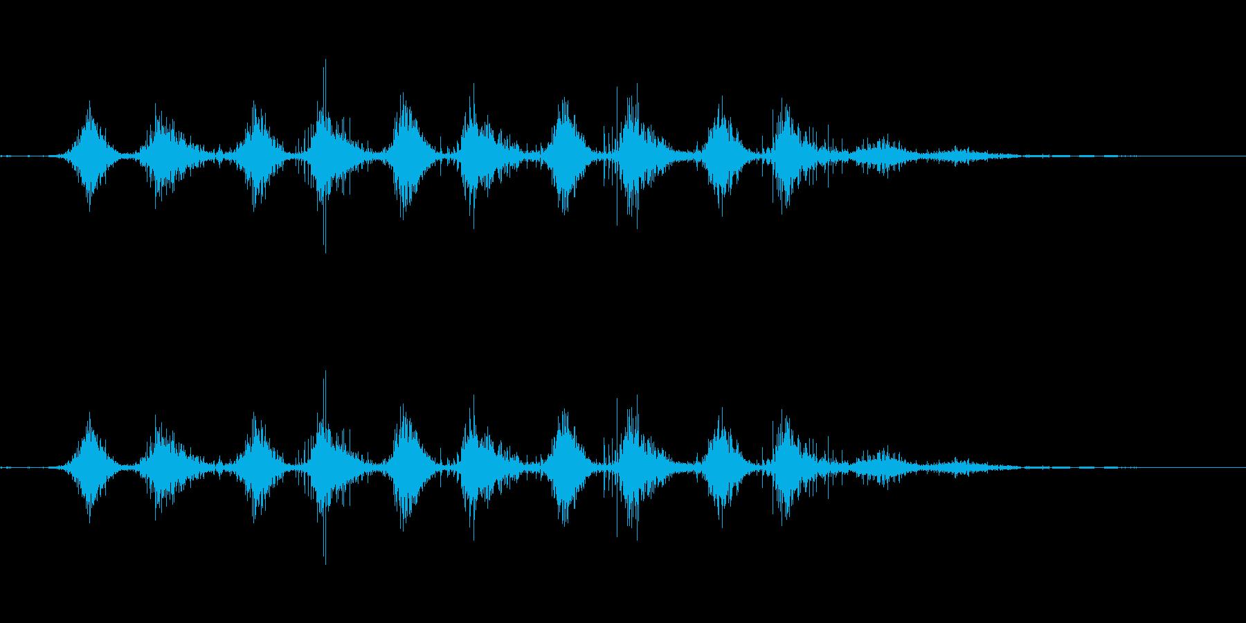 シャラシャラ 優しく振った卵型シェイカーの再生済みの波形