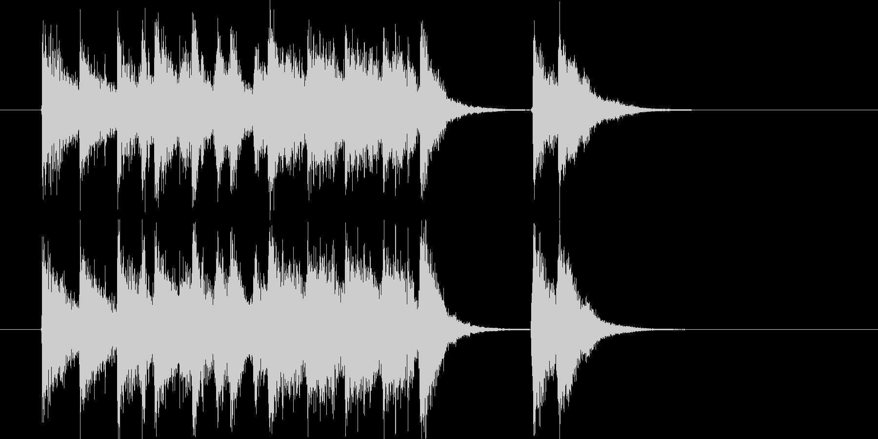 軽快なかけ声とポップなリズムの未再生の波形