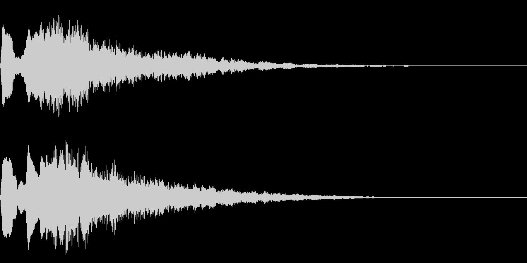 ステージ、ゲームクリア音 タッタララーの未再生の波形