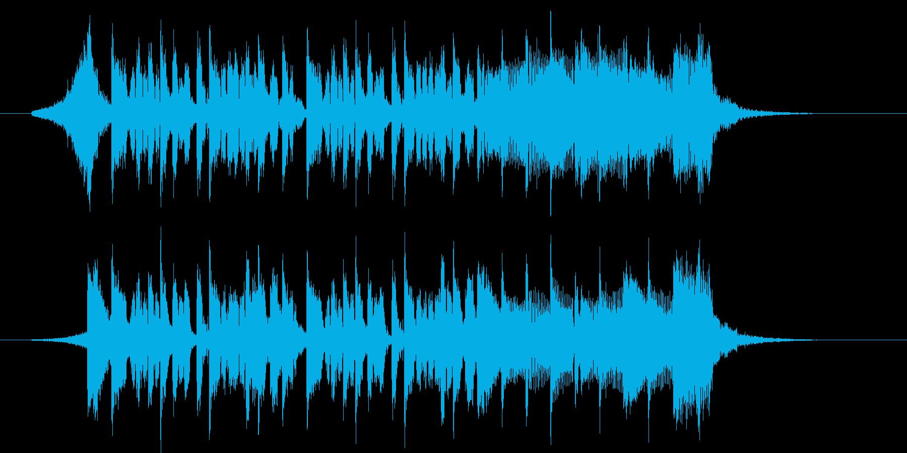 ムーンウォークなダンスミュージックの再生済みの波形