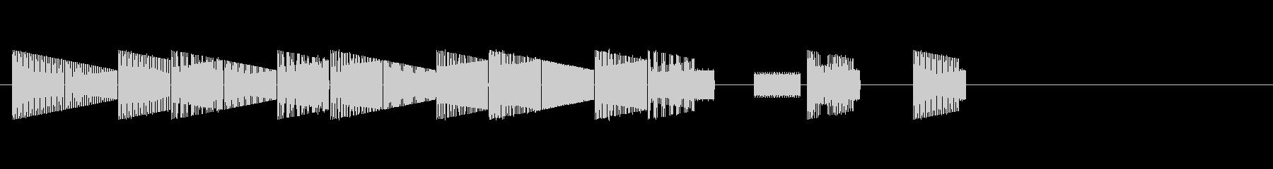 本格的ファミコン 可愛い系オープニングの未再生の波形