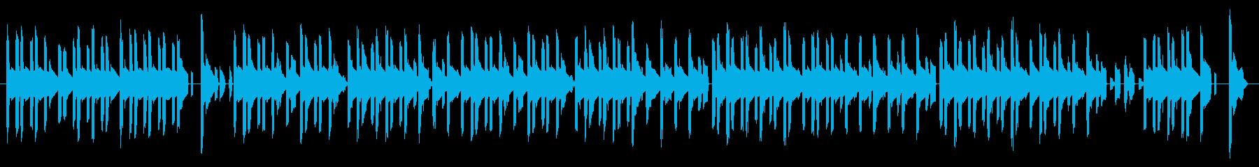 GB風パズル・カードゲームのタイトル曲の再生済みの波形