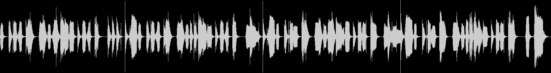 呑気なBGMの未再生の波形