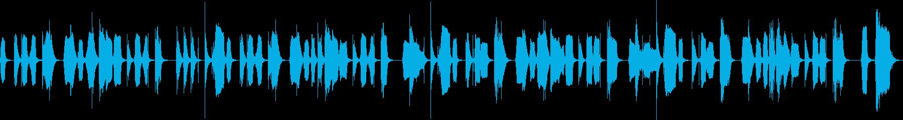 呑気なBGMの再生済みの波形