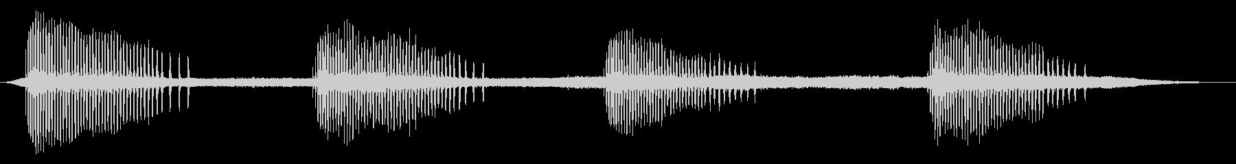 セミ/ひぐらし/カナカナカナ/環境音/秋の未再生の波形